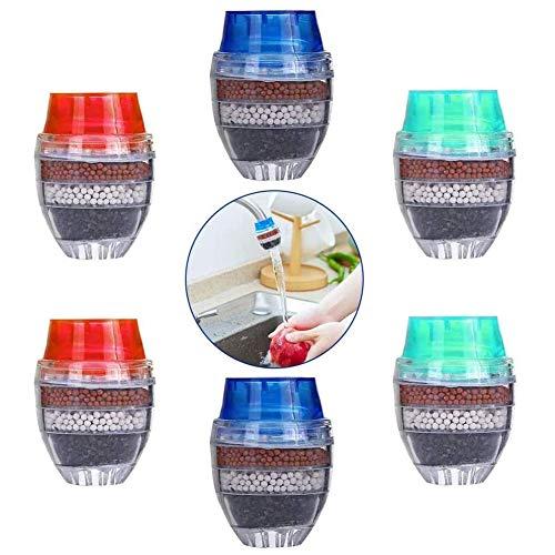 Mini Wasserhahn Wasserfilter ,BETOY 6 Stück Aktivkohle-runder Hahn Wasser Filter - Mini Home Coconut Aktivkohlefilter - Küche Werkzeug