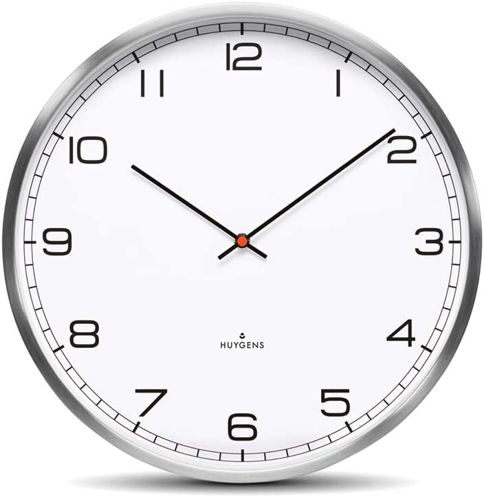 Huygens Silent Analog Oakland Mall Wall Clock Operated Battery Quartz M New Shipping Free Round