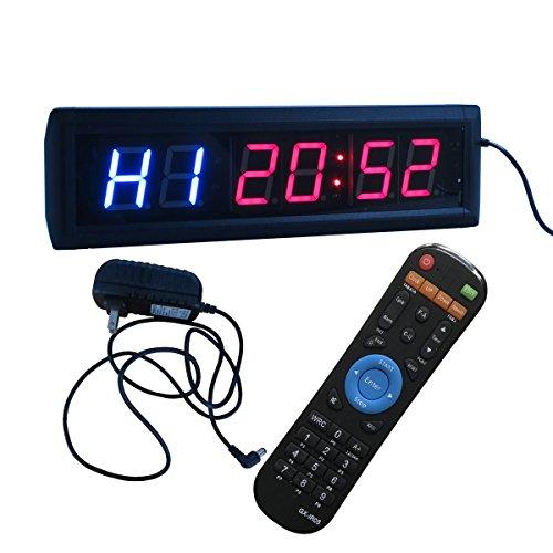 Reloj pared cronómetro temporizador intervalos Ledgital