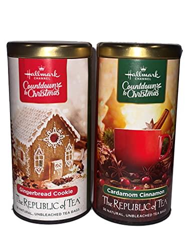 Republic of Tea Hallmark Channel Countdown to Christmas Tea Cardamom Cinnamon and Gingerbread Cookie