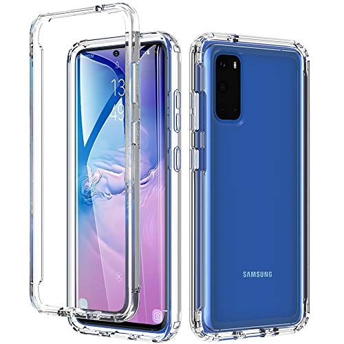 Owkey Samsung Galaxy S20 Hülle, S20 5G Hülle, Crystal Clear Weiche Premium TPU Bumper Handyhülle SchutzhülleOhne Eingebauten Bildschirmschutz, Stoßfest Hülle für Galaxy S20 | S20 5G, 6.2
