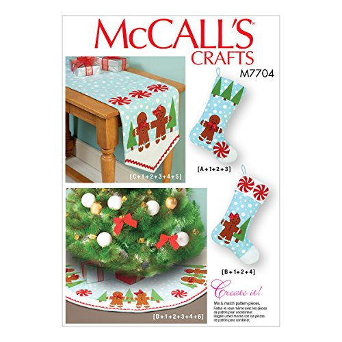 McCall Patterns Stockings, Runner, and Tree Skirt Holiday Decorations