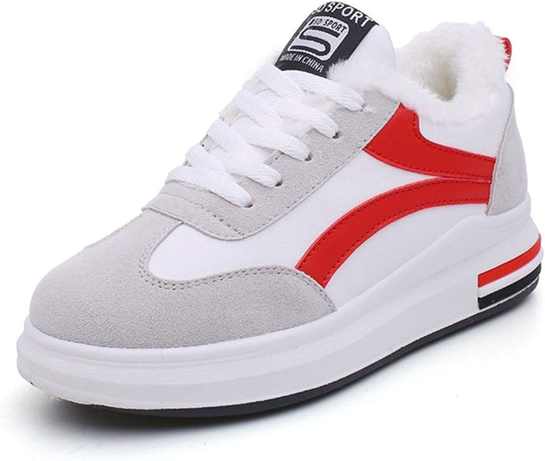 Ladies Sports Casual shoes Winter Plus Velvet White shoes Casual Students Women's Sports shoes shoes Warm Cotton shoes