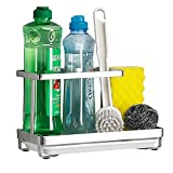 Sponge Holder with Drain Pan - Kitchen Sink Organizer - Sink Caddy Holder - Sink Tray - Soap Holder - SUS304 Stainless Steel