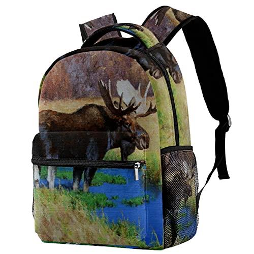 Wildlife Blacktail Backpack For School Travel,...