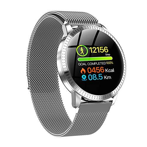 HX0945 Smart Watch VS V11 Q8 P68 Waterproof Tempered Glass Activity Fitness Tracker Heart Rate Monitor Brim Men Women Smartwatch CF18