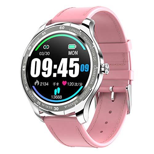 PADGENE Smartwatch, Smartwatch für Männer mit Herzfrequenzmesser, Kalorien, Schlafmonitor, Stoppuhren, Schrittzähler, Activity Tracker für Android/iOS (Pink - PU)