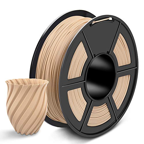 SUNLU Wood PLA 3D Printer Filament 1.75mm PLA Filament 1kg/Spool for 3D Printing, Dimensional Accuracy +/- 0.02 mm, Real Wood Filament