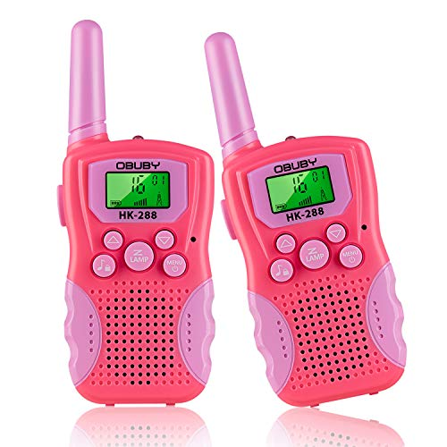 Kids Walkie Talkies 3 KMs Long Range 2 Way Radio 22 Channels for Kid Toys Gifts with Backlit LCD Flashlight Best Gift for Age 3-12 Boys and Girls for Outdoor Adventure Game