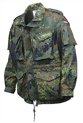 BW Einsatzkampfjacke Leicht Flecktarn, XL, Flecktarn