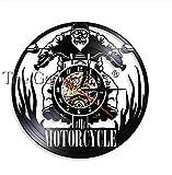 wwwff Moto Touring Motorcyclis Rider Vinilo Reloj de Pared Reloj de Carreras Reloj de Pared de Motocicleta Reloj de Carreras Regalo para Amantes del Motor 12 Pulgadas 30 * 30