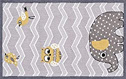Elephant and Birds Children's Area Rug