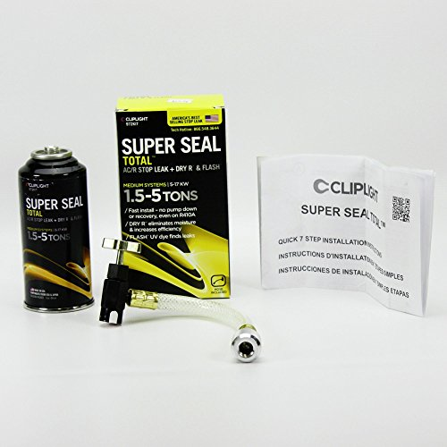 Cliplight Super Seal Total 972KIT - Permanently Seals & Prevents Leaks in A/C & Refrigeration Systems - 1.5-5 TONS