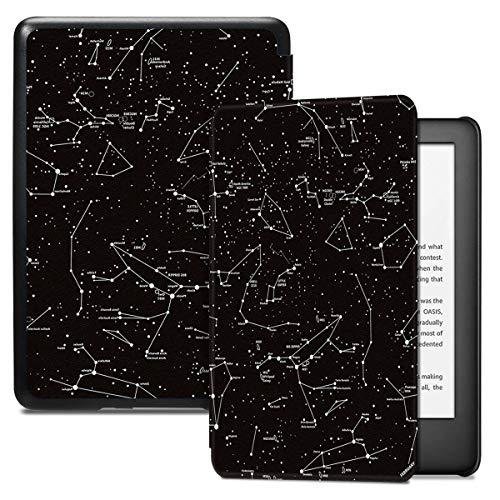 Capa para o Kindle 10a geração (aparelho com iluminação embutida) - rígida - sistema de hibernação - Constelações