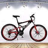 Ligero, Adulto bicicleta de montaña, 21 bicis de la velocidad de doble disco de freno, de aleación de aluminio de bicicletas Playa Nieve, 26 pulgadas ruedas, Propósito General Mujer Hombre Liquidación