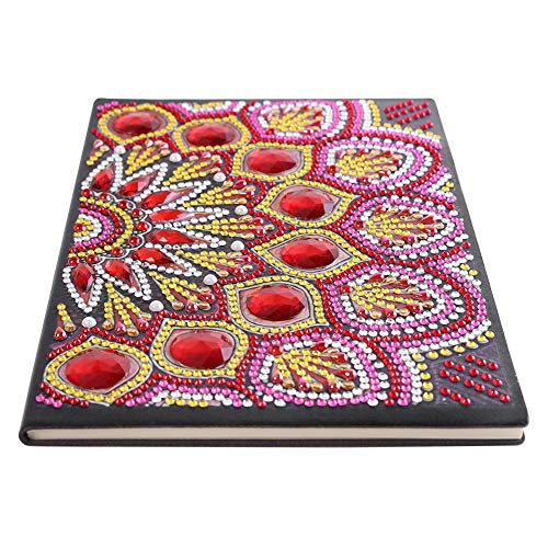 Chijon Notebook DIY 5D Diamant Malerei Notizbuch A5 Diamond Painting Notizblöcke 50 Seiten Notizbuch mit festem Einband für Mädchen Kinder Strass Geschenk für Weihnachten Geburtstag(6)