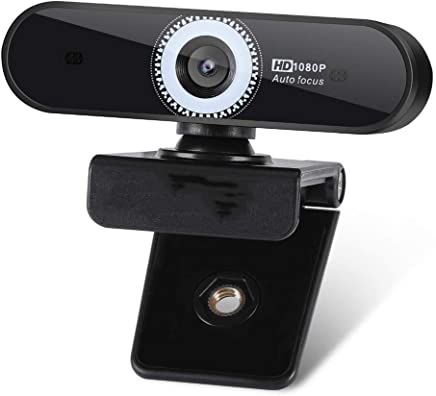 Webcam con messa a fuoco automatica 1080P, Microfono con cancellazione del rumore, Webcam Web con Skype Full HD per PC Laptop, USB Plug Play per Windows 10/8 / 7 Mac OS X, Autofocus grandangolare - Trova i prezzi più bassi