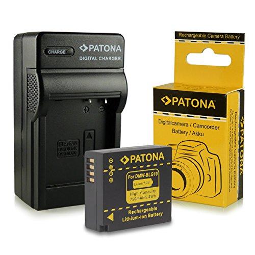 Caricabatteria + Batteria DMW-BLG10 DMW-BLG10E per Panasonic Lumix DMC-GF6 | Lumix DMC-GX7 e più… [ Li-ion; 750mAh; 7.2V ]