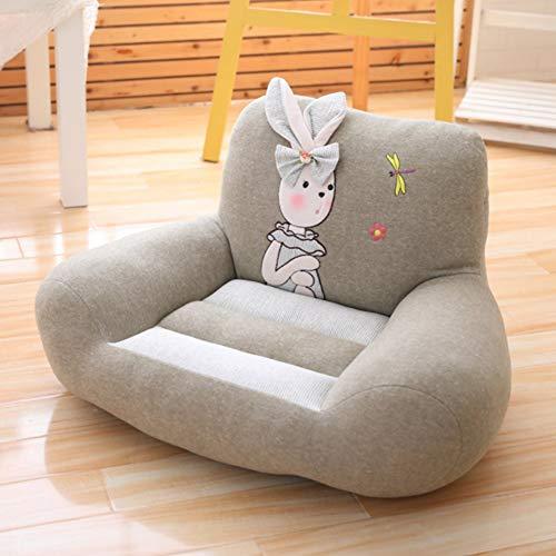 Baby Cartoon Soft Chair, Mobili Poltrona Wing Back Divano Lounge Vasca da Bagno Fireside con Poggiapiedi Living Bed Room Office Modern Fabric Gaming Bean Bag Adulto, Gray