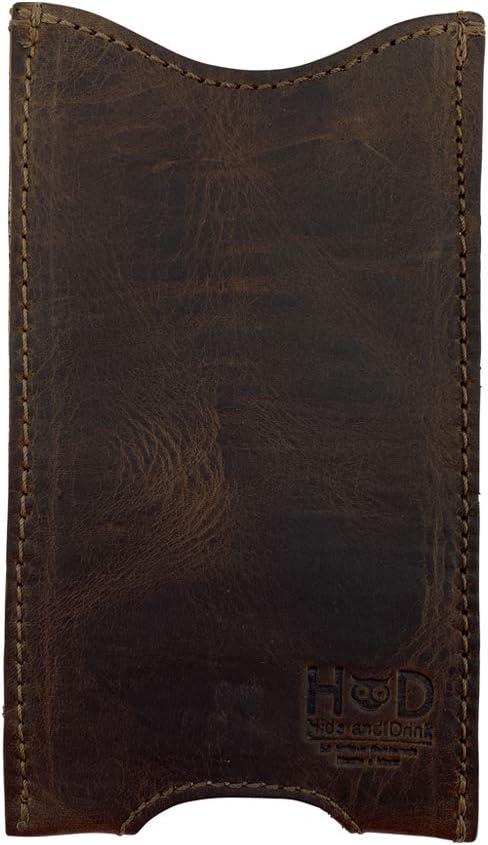 Rustic Leather iPhone 6 Plus Sleeve Handmade by Hide & Drink :: Bourbon Brown