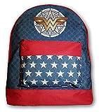 DC Comics Wonder Woman Mochila, mochila escolar efecto vaquero estampado 42 cm