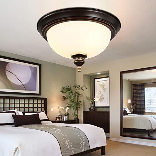 De enige goede kwaliteit Indoor Amerikaanse Woonkamer Slaapkamer Lamp Glas Plafond Restaurant Bed And Breakfast Noordse Minimalistische Circulaire Balkon Aisle Keukenlampen 39 * 22cm