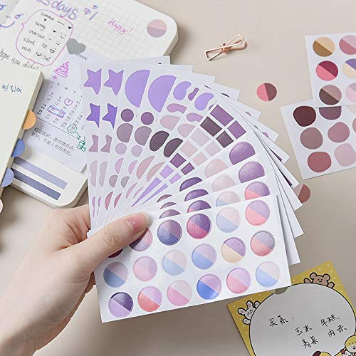 6 pcs/set Korean Fashion Colorful Mood Ins Style Stickers Scrapbooking Diy Diary Stationery Label Stickers