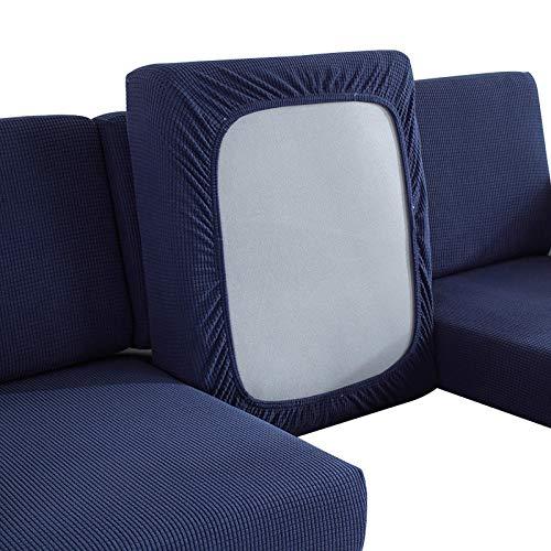 Fengshengli - Cojín para sofá o decoración del hogar, asiento de dormitorio, funda de repuesto elástica para muebles de protección elástica sólida (1 SeatNavy)