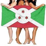 Strandtuch, Flagge von Bur&i, 80 x 130 cm, weich, leicht, saugfähig, für Bad, Schwimmbad, Yoga, Pilates, Picknick, Decke