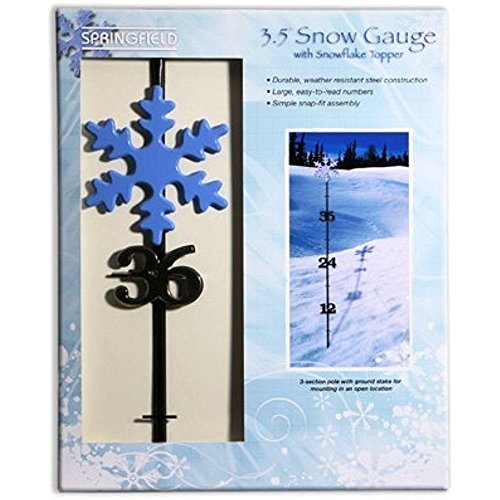 Springfield Taylor Model 98503 42 Inch Snow Gauge Snow Measuring Stick With Snowflake Topper