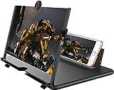 REVERSE 12' Lupa de Pantalla 3D HD teléfono Inteligente Lupa Pantalla de proyector para películas,Videos y Juegos Soporte de teléfono Plegable con Amplificador de Pantalla