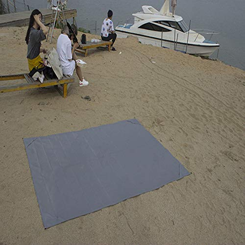 DKFS Camping Mat Waterdichte Strand Mat Outdoor Deken Baby Klimmat Matrassen Zonnebrandcrème schaduw 145 * 150cm Grijs