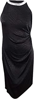 MSK Womens Glitter Sleeveless Cocktail Dress