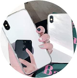 热卖高級ミラーケースfor iphone XS XR XS最大X 6 6 s 7 8プラスTPU + PCプレーンガラスファッション保護電話バックカバーケース,for iphone XS