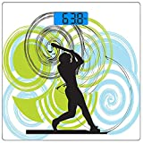 Precision Digital Body Weight Scale Square Sports Ultra Slim Tempered Glass Bathroom Scale