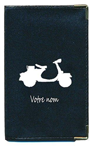 Pochette Etui Protection Porte Carte Grise - papiers Voiture - permis de Conduire Scooter personnalisé avec prenom ou surnom