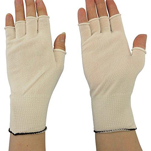 マックス 快適インナー半指手袋 Lサイズ (10双入) MX387L