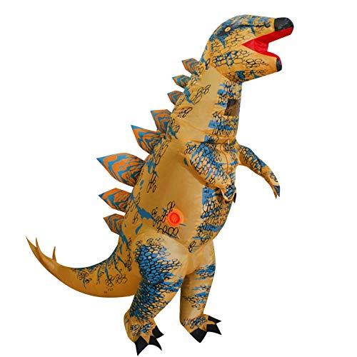 Inflatable Dinosaur Costume for Kids, T-Rex Skeleton Stegosaurus Halloween Fancy Dress (Child (height 4'-4'11'), Stegosaurus)