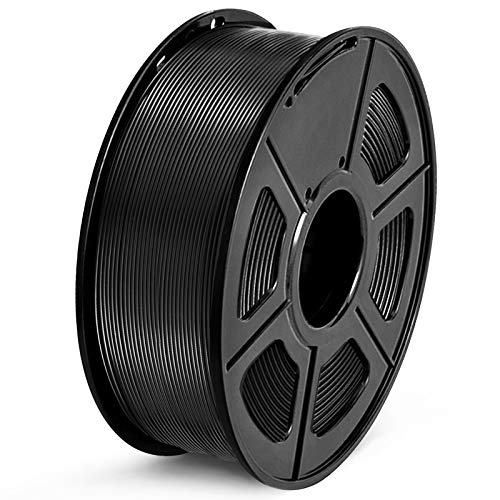 SUNLU Filamento PETG 1.75mm 1kg Impresora 3D Filamento, Precisión Dimensional +/- 0.02 mm, PETG Negro