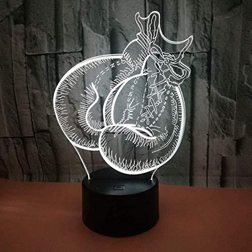 Neu 3D Touch Light De Mesa Vision Nachtlicht 3D Boxhandschuhe LED Nachtlicht Powerbank Light