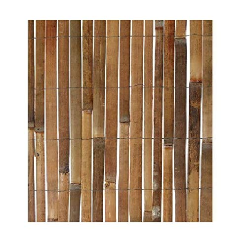 A2Z Home Solutions Amazing Outdoor Split Bamboo Slat Screening Fence Natural Garden 2 Sizes Panel Roll Privacy Border Divider Wind/Sun Protection (1x3m 100x300cm)