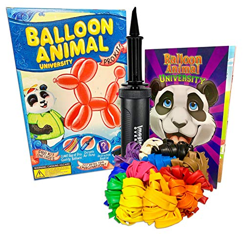 Stay at Home Quarantine Fun Activities for Kids & Adults. Balloon Animal University PRO Starter Kit (101ct) Learn to Make Balloon Animals
