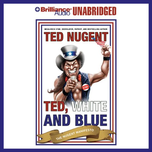 Ted, White, and Blue audiobook cover art