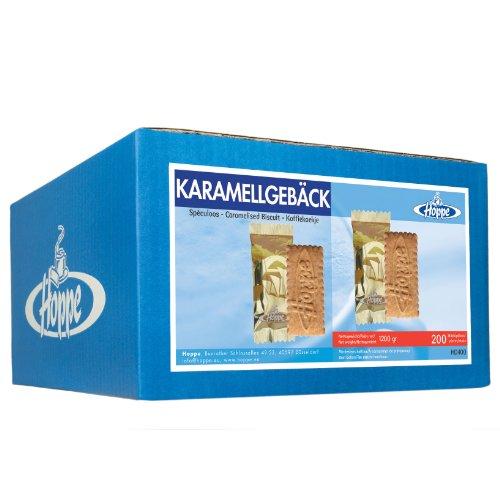 Hoppe Karamellgebäck Mono, Kekse, Plätzchen, einzeln verpackt, 200 Stück, 1200g