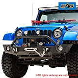 EAG Front Bumper Heavy Duty with Winch Plate and Fog Light Hole Fit for 07-18 Wrangler JK