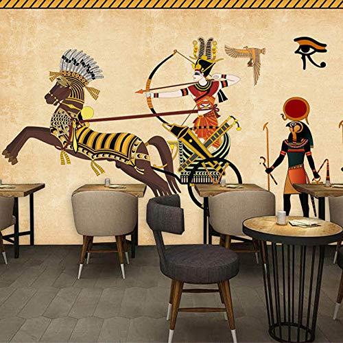 Murales De Pared 4D Papel Pintado,Creador De Dibujos Animados De Estilo Étnico Indian Chief Art Imprimir Una Foto De Papel Tapiz De Pared Carteles De Gran Tamaño Decoración Para El Hogar Sofá Tv