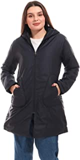 Waterproof Jacket With Hoodie & Side Pockets - Navy