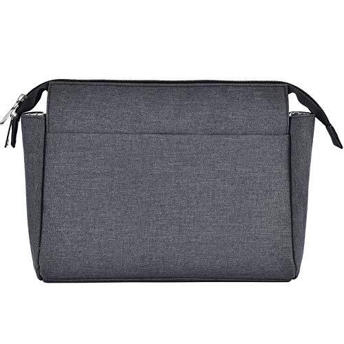 HyFanStr Handtaschen Organizer, Nylon Taschenorganizer mit Reißverschlusstasche, Innentaschen für Handtaschen Schwarz Groß