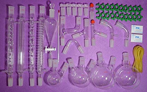 NANSHIN Glassware,24/40,New Organic Chemistry Laboratory Glassware Kit,45 PCS...
