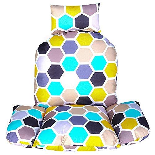 DJ stoelkussen om op te hangen aan de rugleuning van de stoel met kussen, afneembaar, wasbaar, dikke schommel zonder stoel hangstoel B 105 x 120 cm (41 x 47 inch)